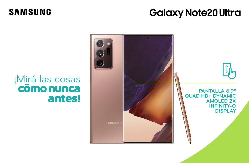 Samsung Galaxy Note20 Pantalla 6.9 pulgadas QUAD HD