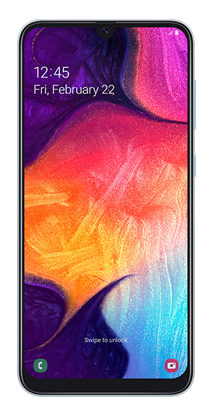 Samsung Galaxy A50 vista frontal