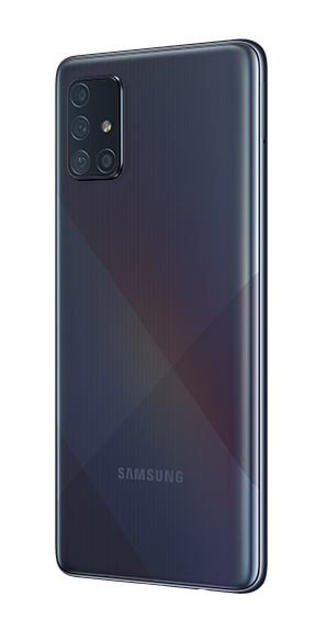 Samsung Galaxy A71 color prisma negro
